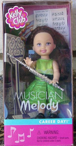MAT0601 Mattel 2001 Kelly Club Musician Melody Doll with Flute