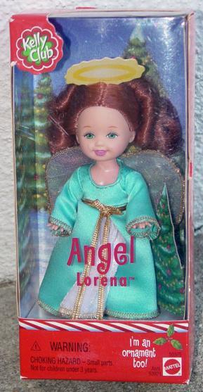 MAT0602A Mattel 2001 Kelly Club Angel Lorena Doll Ornament