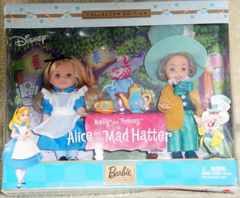 MAT0633 Mattel Kelly and Tommy Dolls as Alice and Mad Hatter 2002