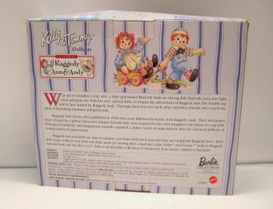 MAT0632 Mattel Kelly and Tommy Dolls as Raggedy Ann and Andy 1999 1