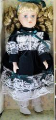 MTK0001 My Treasure Blonde Porcelain Doll, 12 In. Kingsbridge Intl.