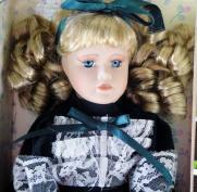 MTK0001 My Treasure Blonde Porcelain Doll, 12 In. Kingsbridge Intl. 1