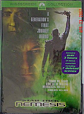 DVD0001 Star Trek Nemesis DVD Widescreen Movie, New