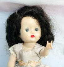 NAS0101 Nancy Ann Early 1950s Strung Brunette Muffie Doll 1