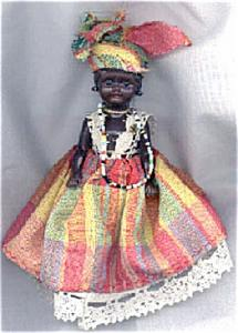 NAT0015 Old Small Caribbean Islands-Type Black Doll