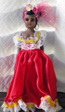 NAT0029 Vintage Jamaican 7.5 inch Nationality Doll