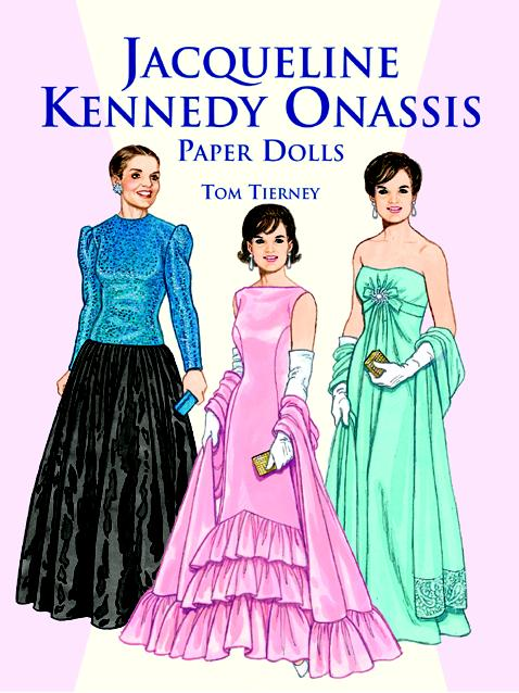 DOV0006 Jacqueline Kennedy Onassis Paper Dolls, Tierney 1999