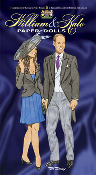 DOV0007 Dover William and Kate Paper Dolls, Tierney 2011