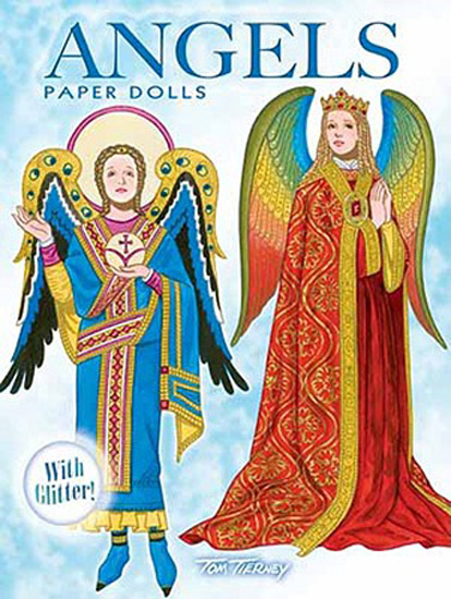 DOV0014 Angels Paper Dolls with Glitter, Tierney, Dover, 2010
