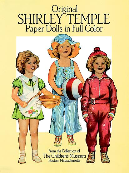 DST0002 Original Shirley Temple Paper Dolls, Dover, 1988, ed.