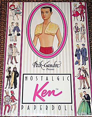 PDB0012 1961 Nostalgic Ken Paper Doll Peck-Gandre 1989