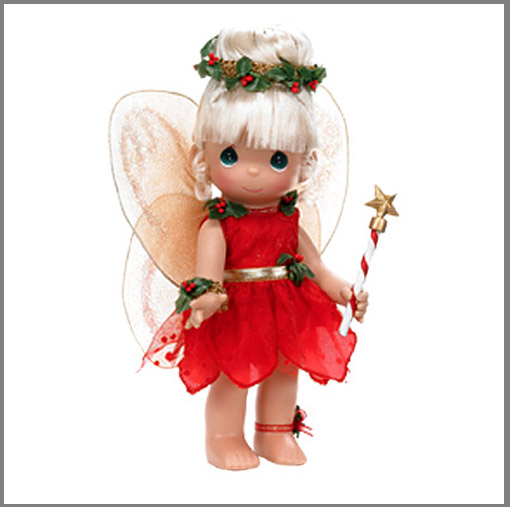 PMC0688A Precious Moments Co. Tinkerbelle's  Christmas Dreams Doll 09