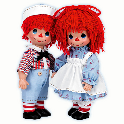 0PMC0759 Precious Moments Timeless Traditions Raggedy Girl, Boy Dolls