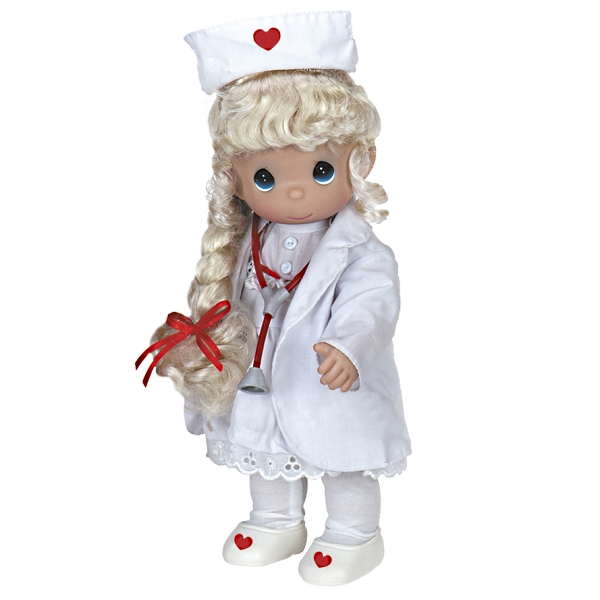 PMC0786 Precious Moments Loving Touch Blonde Nurse Doll, 2013