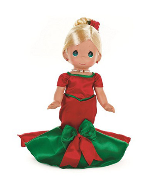 PMC1011 Precious Moments Blonde Dancing Into the Christmas Spirit Doll