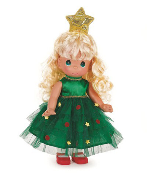 PMC1013 Precious Moments Blonde Tree-Mendously Precious Doll 2014