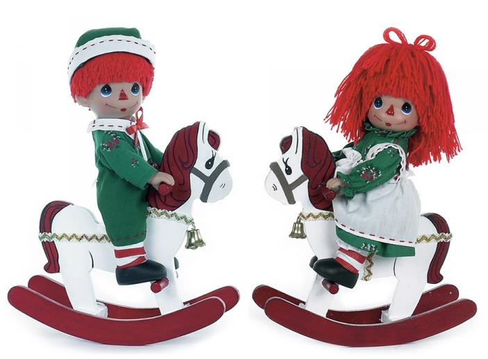 PMC0759D Precious Moments Rockin' Christmas Wishes Raggedy Doll Set
