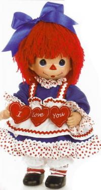 PMC0761 Precious Moments I Love You Raggedy Ann Doll with Hearts