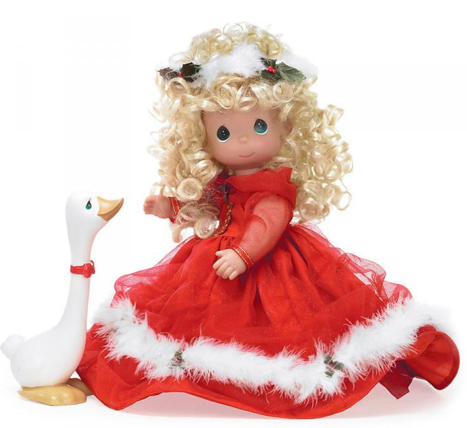 PMC0937 Precious Moments Songs of Christmas Joy Doll with Goose 2010