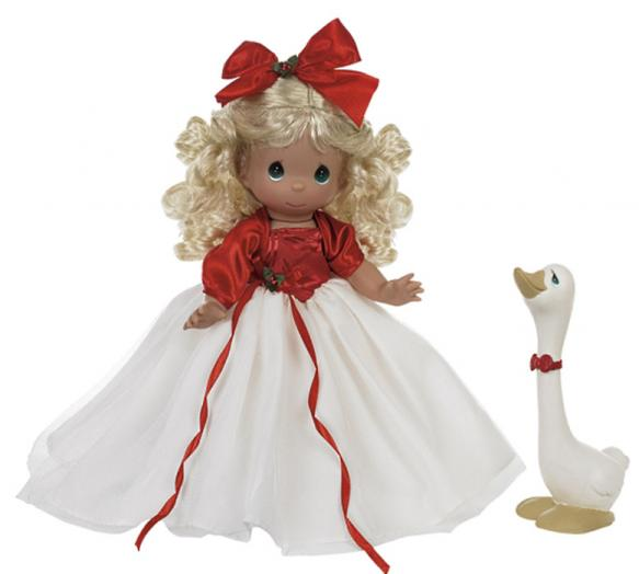 PMC0937B Precious Moments A Joyful Season Doll with Goose, 2013