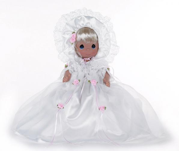 PMC1000 Precious Moments The Christening Blonde 12 In. Baby Doll 2013