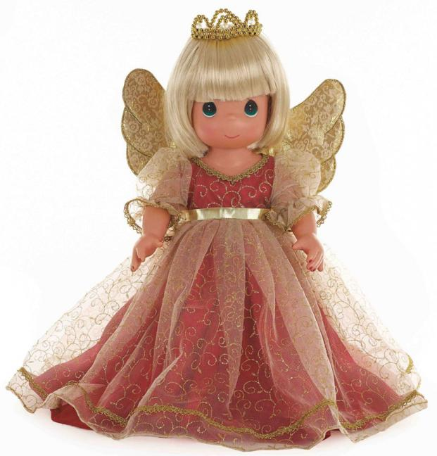 PMC1017 Precious Moments Blonde Christmas Memories Angel Doll 2014
