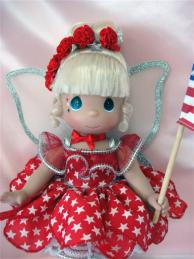 PMC0688B Precious Moments Star Spangled Tinker Bell Doll 2010 1