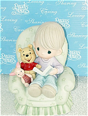 PMD0002A Disney Precious Moments Better With a Friend Pooh Figurine