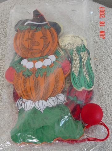 DMS0021 Halloween Jack-O-Lantern Pumpkin Scarecrow Jumping Jack