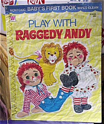 RAG0030 Vinyl Play with Raggedy Andy, Baby's 1st Book 1974
