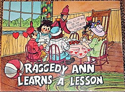 RGR0005 Raggedy Ann Learns a Lesson Soft Cover Book 1979