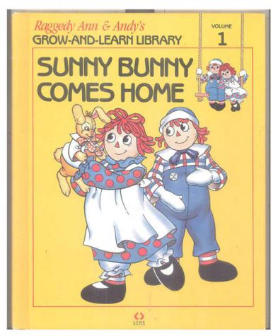 RAG0325A Sunny Bunny Comes Home, Raggedy Ann and Andy Book