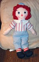 KNR0006 Knickerbocker 1976 Raggedy Andy Doll 16 Inches