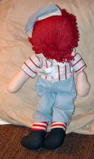 KNR0006 Knickerbocker 1976 Raggedy Andy Doll 16 Inches 1