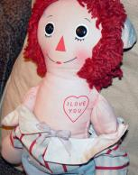 KNR0006 Knickerbocker 1976 Raggedy Andy Doll 16 Inches 3