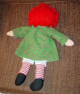 PSR0006 1988 Playskool 17-18 Inch Christmas Raggedy Ann Doll 1