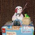 RGE0002 Enesco Raggedy Andy with Fishing Basket  Bisque Figurine