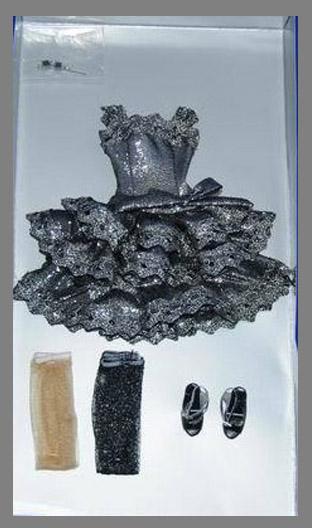 TRV0025 Tonner Silver Shimmer 13 In. Revlon Doll Outfit Only, 2011