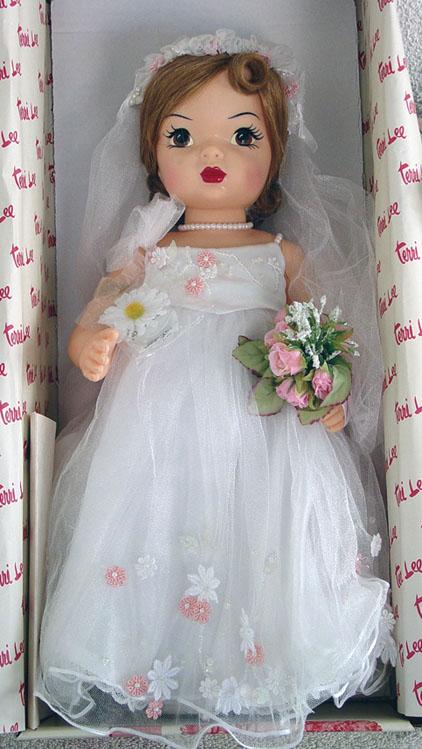 KNI0002 Knickerbocker Terri Lee Millenium Bride Doll 2000, New