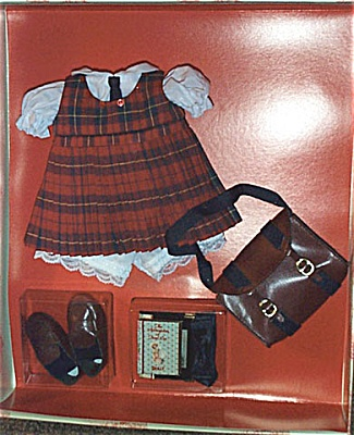 KNI0008 Terri Lee Red Plaid Jumper School Outfit Knickerbocker 2000