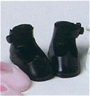 BMT0300b Black Tiny Betsy McCall Mary Jane Doll Shoes