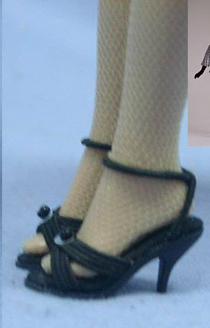 KCT0200A Black High Heels for 10 In. Tonner Tiny Kitty Collier Dolls