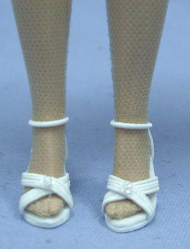 0KCT0200B White High Heels for 10 In. Tonner Tiny Kitty Collier Dolls