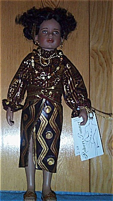 TON0031 Tonner Kwanza Vinyl 15 Inch Artist Doll 1997