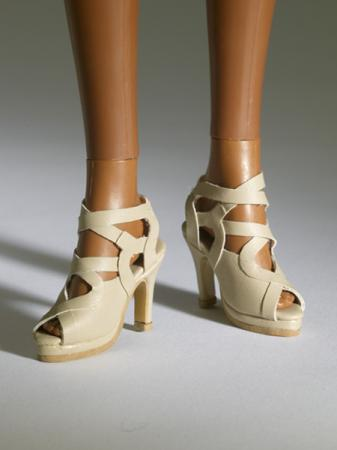 TNM0068 Tonner Nu Mood Beige Sandal High Heel 1 Doll Shoes 2012