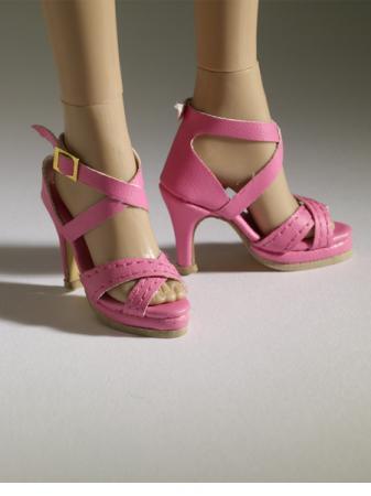 TNM0069 Tonner Nu Mood Pink Sandal High Heel 2 Doll Shoes 2012