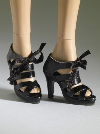 TNM0070 Tonner Nu Mood Black Sandal High Heel 3 Doll Shoes 2012