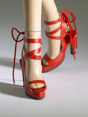 TNM0071 Tonner Nu Mood Red Sandal High Heel 4 Doll Shoes 2012