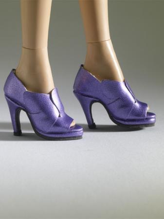 TNM0073 Tonner Nu Mood Purple High Heel 6 Doll Shoes 2012