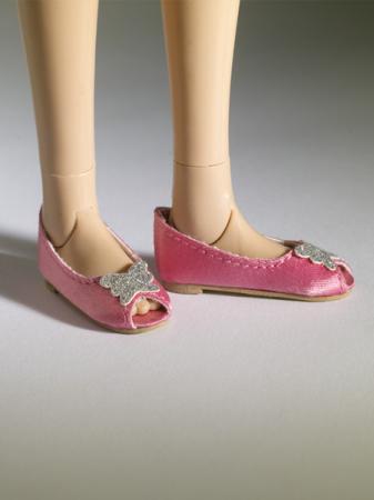 TNM0076 Tonner Nu Mood Pink Satin Ballet Flat 3 Doll Shoes 2012